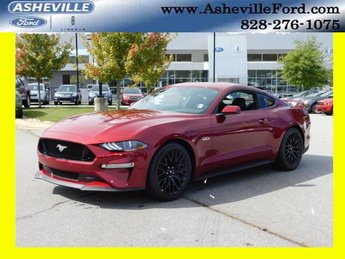 2019 Ruby Red Metallic Tinted Clearcoat Ford Mustang GT Premium 2 Door Automatic Coupe RWD