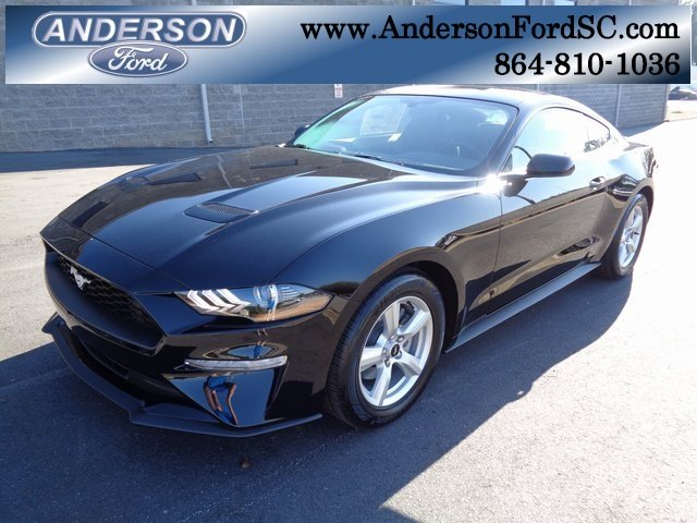 2019 Shadow Black Ford Mustang EcoBoost EcoBoost 2.3L I4 GTDi DOHC Turbocharged VCT Engine RWD 2 Door Manual Coupe