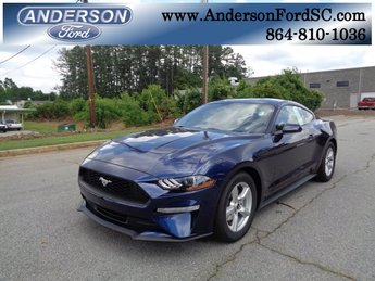 2018 Kona Blue Metallic Ford Mustang EcoBoost RWD Coupe EcoBoost 2.3L I4 GTDi DOHC Turbocharged VCT Engine