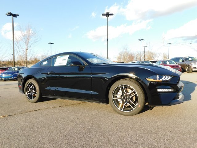 2019 Shadow Black Ford Mustang EcoBoost Premium Automatic 2 Door EcoBoost 2.3L I4 GTDi DOHC Turbocharged VCT Engine RWD