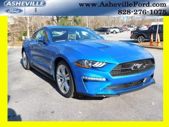 2019 Blue Metallic Ford Mustang EcoBoost Premium RWD Automatic EcoBoost 2.3L I4 GTDi DOHC Turbocharged VCT Engine Coupe 2 Door