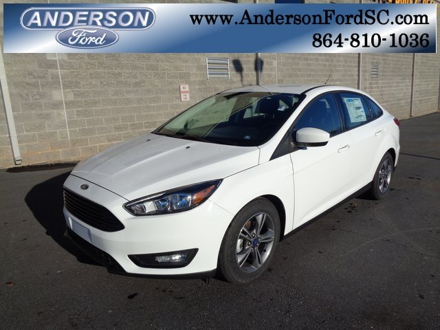 2018 Ford Focus SE EcoBoost 1.0L I3 GTDi DOHC Turbocharged VCT Engine Sedan 4 Door Automatic