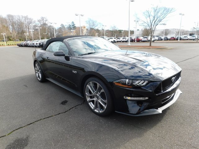 2018 Shadow Black Ford Mustang GT Premium 5.0L V8 Ti-VCT Engine 2 Door Automatic Convertible RWD