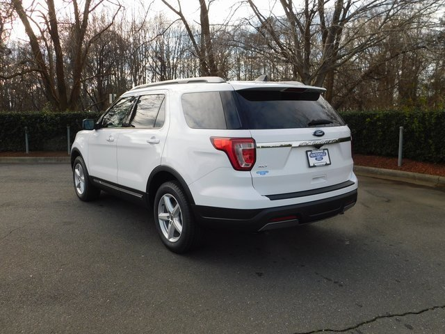 2019 Oxford White Ford Explorer XLT 3.5L V6 Ti-VCT Engine Automatic 4 Door