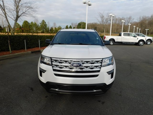2019 Oxford White Ford Explorer XLT 3.5L V6 Ti-VCT Engine SUV FWD 4 Door