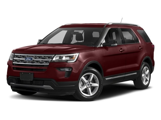 2018 Burgundy Velvet Metallic Tinted Clearcoat Ford Explorer XLT SUV 3.5L V6 Ti-VCT Engine 4 Door Automatic