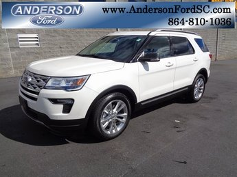 2019 White Metallic Ford Explorer XLT FWD 3.5L V6 Ti-VCT Engine 4 Door Automatic