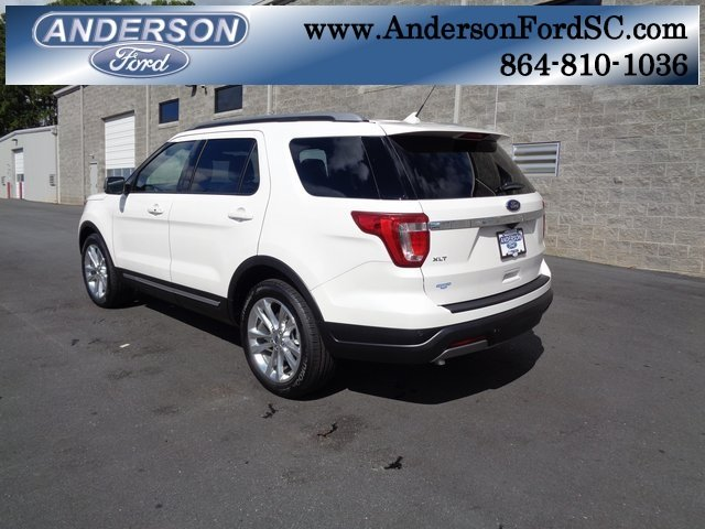 2019 White Metallic Ford Explorer XLT FWD Automatic 3.5L V6 Ti-VCT Engine