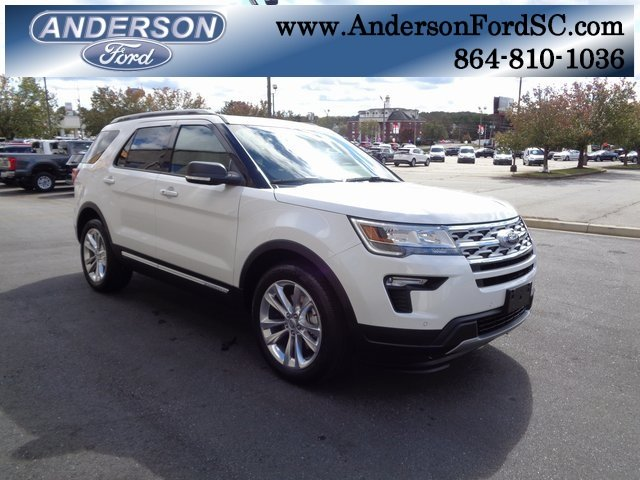 2019 White Metallic Ford Explorer XLT Automatic SUV FWD 3.5L V6 Ti-VCT Engine 4 Door