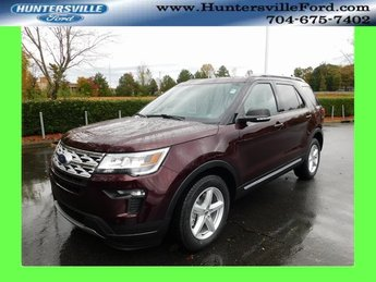 2019 Burgundy Velvet Metallic Tinted Clearcoat Ford Explorer XLT 3.5L V6 Ti-VCT Engine SUV FWD 4 Door Automatic