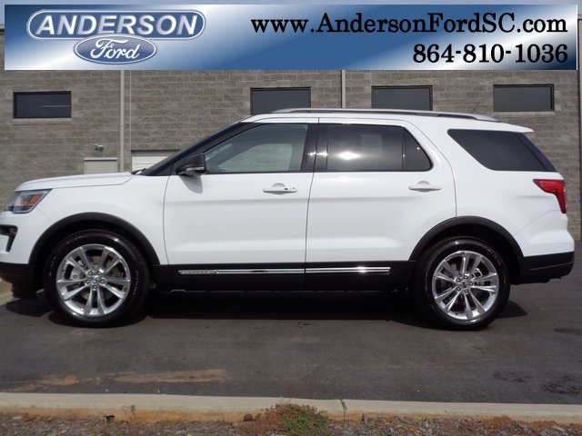 2019 Oxford White Ford Explorer XLT Automatic FWD 4 Door SUV 3.5L V6 Ti-VCT Engine