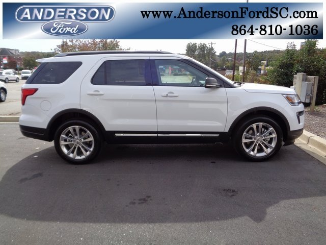 2019 Oxford White Ford Explorer XLT FWD 3.5L V6 Ti-VCT Engine 4 Door Automatic