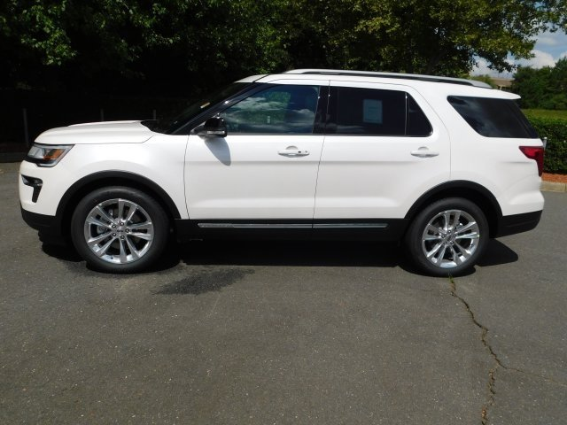 2018 White Ford Explorer XLT 4 Door Automatic FWD
