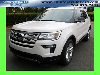 2019 White Ford Explorer XLT SUV Automatic 4 Door FWD 3.5L V6 Ti-VCT Engine