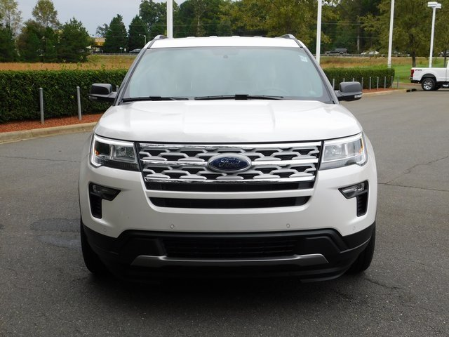 2019 White Ford Explorer XLT 4 Door FWD Automatic 3.5L V6 Ti-VCT Engine SUV
