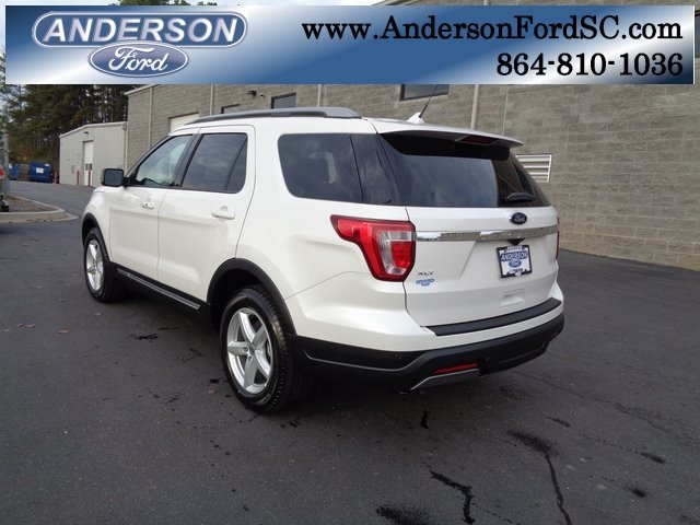 2019 White Metallic Ford Explorer XLT 3.5L V6 Ti-VCT Engine FWD SUV Automatic 4 Door