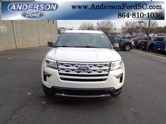 2019 White Metallic Ford Explorer XLT 3.5L V6 Ti-VCT Engine Automatic 4 Door FWD