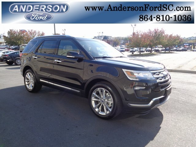 2019 Agate Black Metallic Ford Explorer Limited Automatic 3.5L V6 Ti-VCT Engine FWD 4 Door