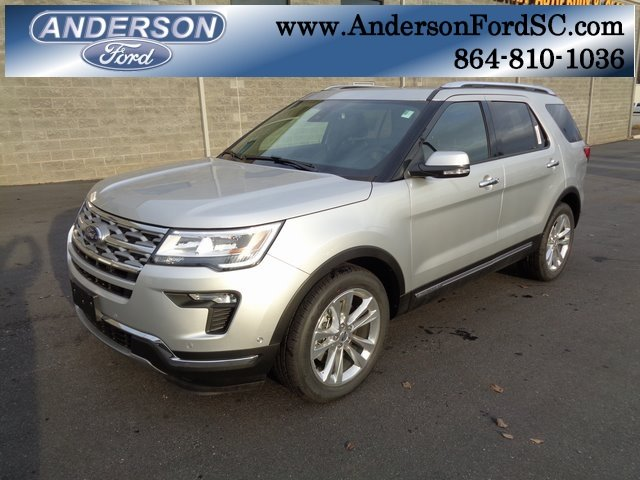 2018 Ingot Silver Metallic Ford Explorer Limited FWD SUV 4 Door 2.3L I4 Engine Automatic