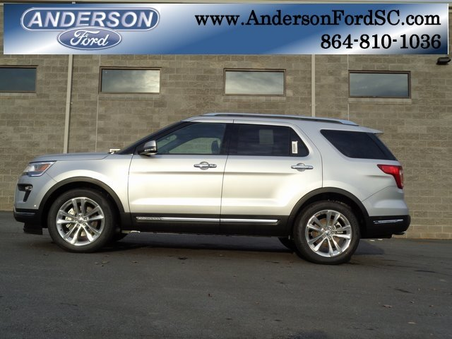 2018 Ingot Silver Metallic Ford Explorer Limited 2.3L I4 Engine Automatic FWD SUV 4 Door
