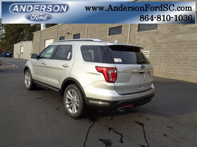 2018 Ingot Silver Metallic Ford Explorer Limited SUV Automatic 2.3L I4 Engine