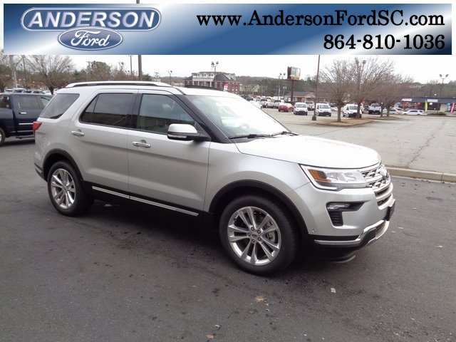 2018 Ingot Silver Metallic Ford Explorer Limited 4 Door 2.3L I4 Engine Automatic