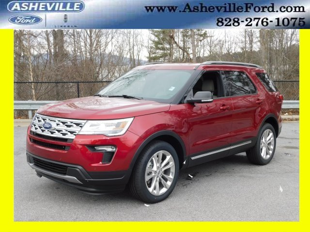 2019 Ruby Red Metallic Tinted Clearcoat Ford Explorer XLT Automatic 4X4 4 Door SUV 3.5L V6 Ti-VCT Engine
