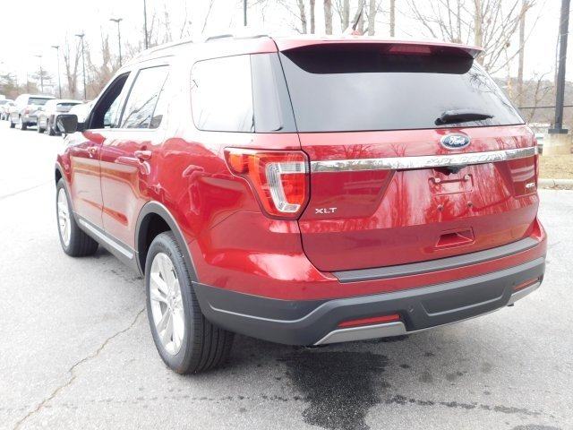 2019 Ruby Red Metallic Tinted Clearcoat Ford Explorer XLT 4X4 SUV 3.5L V6 Ti-VCT Engine Automatic 4 Door