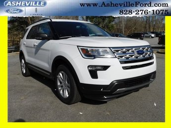 2019 Oxford White Ford Explorer XLT 4X4 4 Door SUV