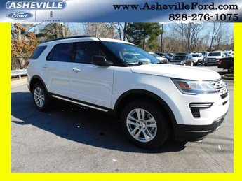 2019 Oxford White Ford Explorer XLT 3.5L V6 Ti-VCT Engine 4X4 Automatic 4 Door