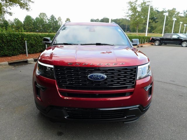 2018 Ruby Red Metallic Tinted Clearcoat Ford Explorer Sport 4 Door 3.5L Engine Automatic