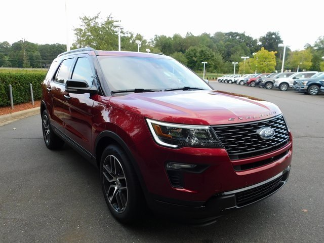 2018 Ruby Red Metallic Tinted Clearcoat Ford Explorer Sport 3.5L Engine 4X4 Automatic SUV 4 Door