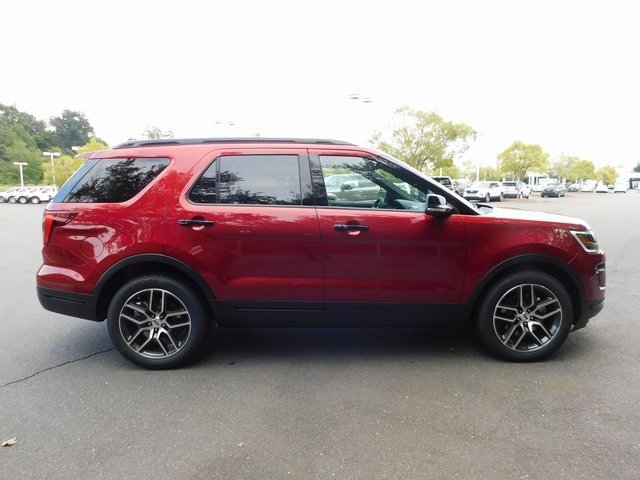 2018 Ruby Red Metallic Tinted Clearcoat Ford Explorer Sport Automatic 4X4 4 Door