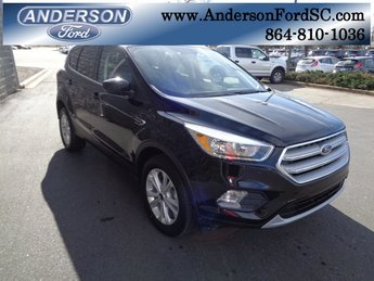 2019 Agate Black Metallic Ford Escape SE FWD EcoBoost 1.5L I4 GTDi DOHC Turbocharged VCT Engine SUV