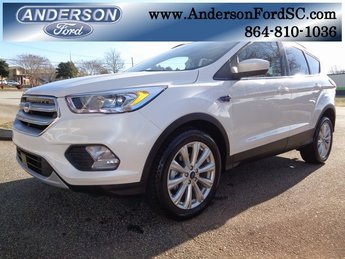 2019 White Platinum Clearcoat Metallic Ford Escape SEL EcoBoost 1.5L I4 GTDi DOHC Turbocharged VCT Engine SUV Automatic FWD