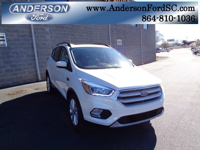 2019 White Platinum Clearcoat Metallic Ford Escape SEL EcoBoost 1.5L I4 GTDi DOHC Turbocharged VCT Engine FWD Automatic SUV 4 Door