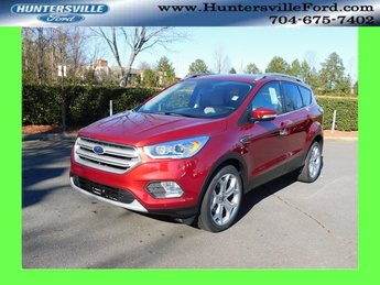 2019 Ruby Red Metallic Tinted Clearcoat Ford Escape Titanium EcoBoost 2.0L I4 GTDi DOHC Turbocharged VCT Engine Automatic SUV