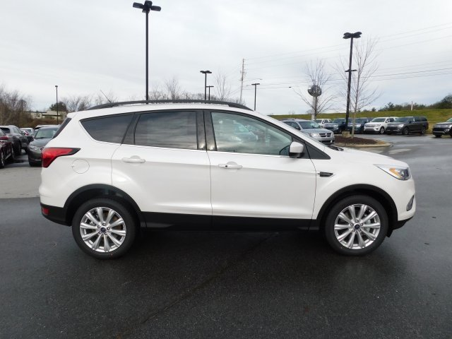 2019 White Platinum Clearcoat Metallic Ford Escape SEL EcoBoost 1.5L I4 GTDi DOHC Turbocharged VCT Engine Automatic 4X4 4 Door