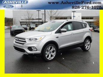 2019 Ingot Silver Metallic Ford Escape Titanium 4X4 SUV EcoBoost 2.0L I4 GTDi DOHC Turbocharged VCT Engine Automatic