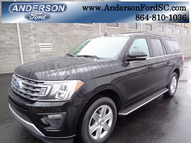 2019 Agate Black Metallic Ford Expedition Max XLT 4 Door EcoBoost 3.5L V6 GTDi DOHC 24V Twin Turbocharged Engine Automatic