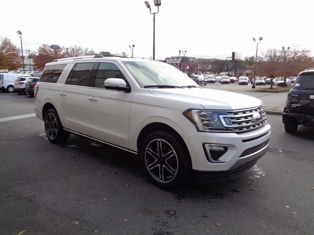 2019 White Metallic Ford Expedition Max Limited SUV Automatic 4 Door