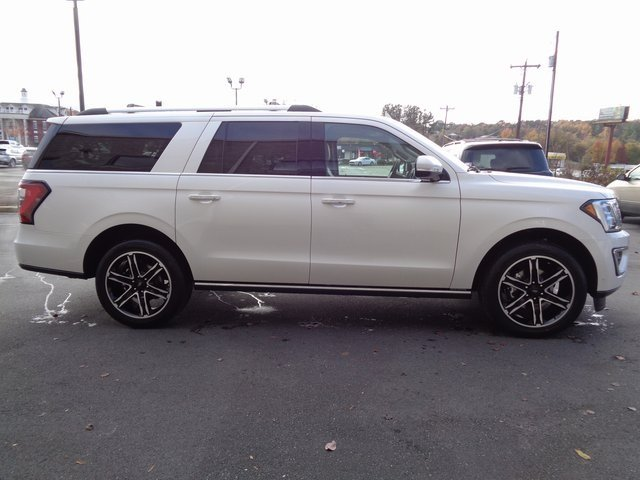 2019 White Metallic Ford Expedition Max Limited Automatic EcoBoost 3.5L V6 GTDi DOHC 24V Twin Turbocharged Engine RWD