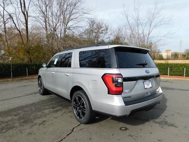 2019 Ingot Silver Metallic Ford Expedition Max Limited 4 Door SUV EcoBoost 3.5L V6 GTDi DOHC 24V Twin Turbocharged Engine