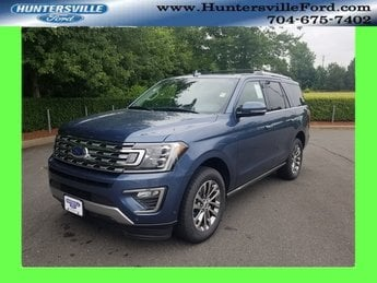 2018 Blue Metallic Ford Expedition Limited RWD EcoBoost 3.5L V6 GTDi DOHC 24V Twin Turbocharged Engine 4 Door SUV Automatic