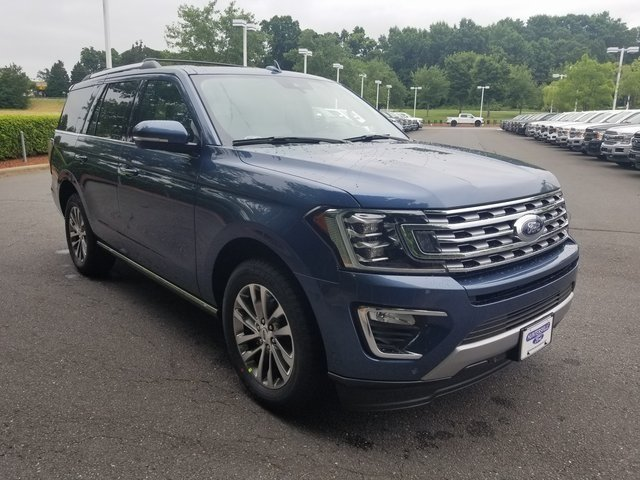 2018 Blue Metallic Ford Expedition Limited EcoBoost 3.5L V6 GTDi DOHC 24V Twin Turbocharged Engine 4 Door RWD