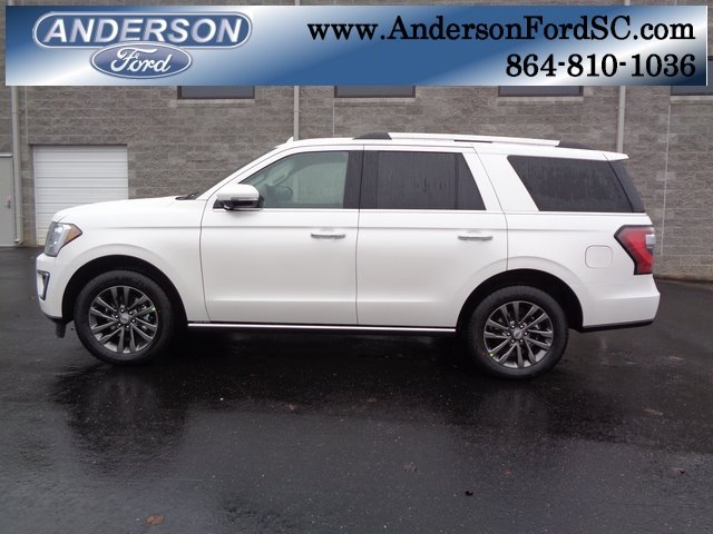 2019 White Metallic Ford Expedition Limited RWD SUV 4 Door EcoBoost 3.5L V6 GTDi DOHC 24V Twin Turbocharged Engine