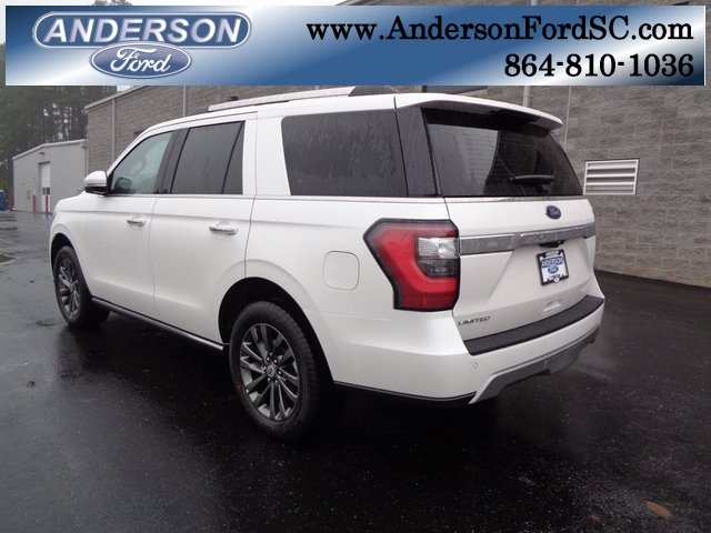2019 White Metallic Ford Expedition Limited RWD SUV EcoBoost 3.5L V6 GTDi DOHC 24V Twin Turbocharged Engine 4 Door Automatic