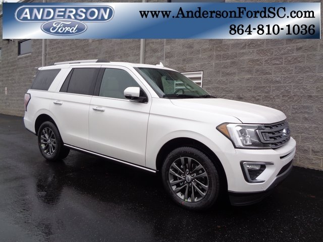 2019 White Metallic Ford Expedition Limited SUV EcoBoost 3.5L V6 GTDi DOHC 24V Twin Turbocharged Engine Automatic 4 Door RWD