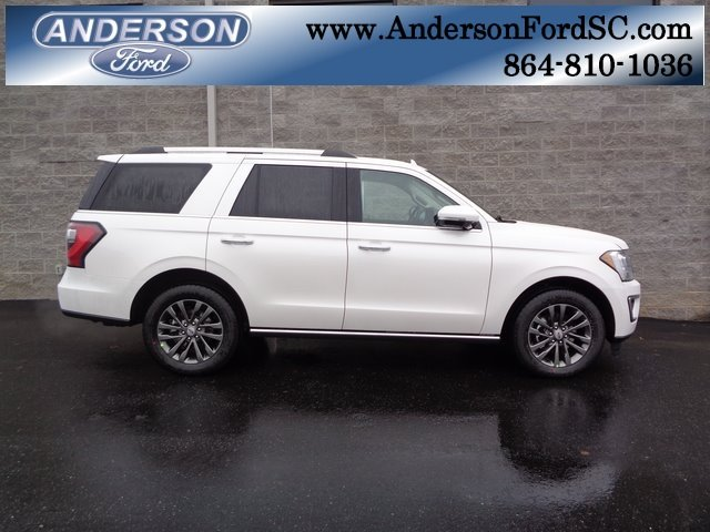 2019 White Metallic Ford Expedition Limited SUV Automatic EcoBoost 3.5L V6 GTDi DOHC 24V Twin Turbocharged Engine