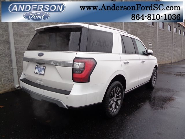 2019 White Metallic Ford Expedition Limited SUV 4 Door RWD EcoBoost 3.5L V6 GTDi DOHC 24V Twin Turbocharged Engine Automatic